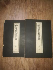 版画精品        民国时期(和刻本)     大开本经折装《竹田兰竹画谱》2册全一套