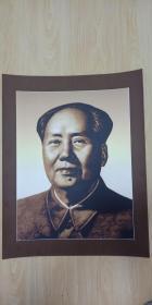 纸板雕刻伟人像毛主席