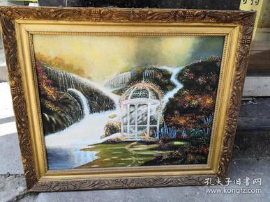 老风景油画