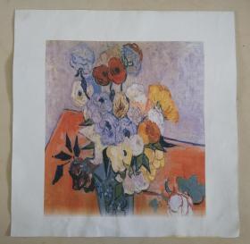 印刷品油画  花卉