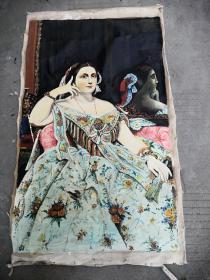 妇人老油画