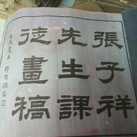 张子祥先生课徒画稿