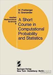 美国原版 A Course in Computational Probability and Statistics 计算概率与计算统计教程