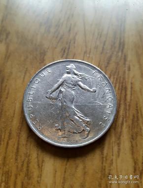 法国播种女神银光币1法郎(1973年)