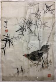 柳子谷-竹雞圖