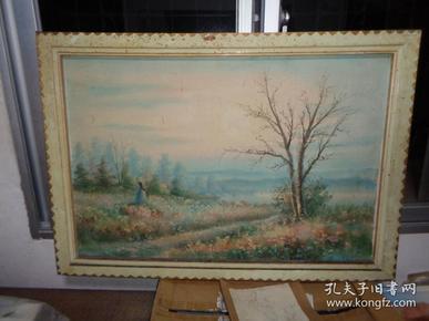 刚收来的老油画---100厘米*75厘米