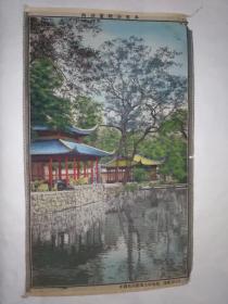 西湖灵隐冷泉亭(丝织 织锦画)17x47厘米