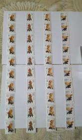 1992-16青田石雕邮票套票,共10套,通走。实物品相如图