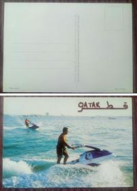 外国明信片,卡塔尔二手原版,品如图