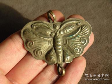 清代 老银器 蝴蝶型配饰 古玩杂项 老银饰