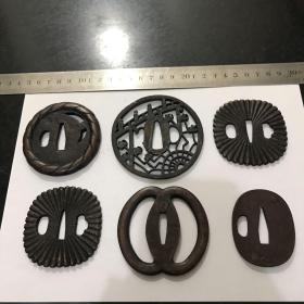 日本回流刀镡刀挡 铜铁锡等等每个100元 保证日本回流包老