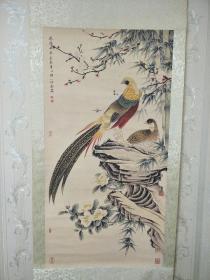 国画、字画、卷轴画【上林春色】刘奎龄手绘画,中堂字画。尺寸看图,其它请自鉴!