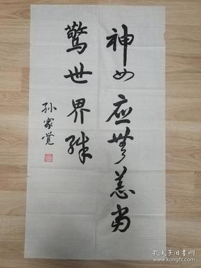 """孙家觉的精美书法作品一幅 """"无题""""0425"""
