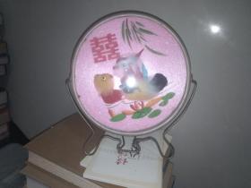 文革镜子(背面植绒图案双喜)上海