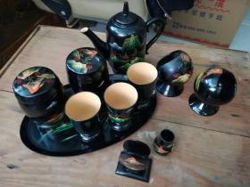 漆器茶具11件
