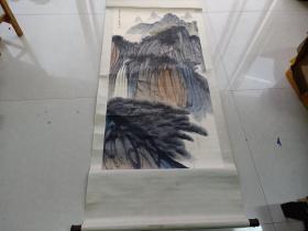 乡下收的近代名人金梦石山水画
