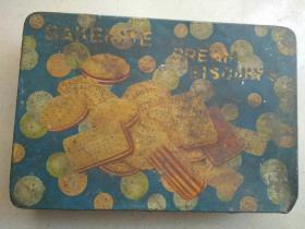 晚清美商沙利文糖果饼干公司广告铁盒