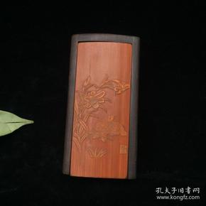 竹黄花鸟盒