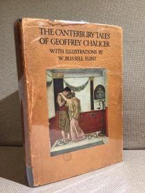 The Canterbury Tales锛堜箶鍙熴�婂潕鐗逛集闆锋晠浜嬮泦銆嬶紝鑻忔牸鍏版按褰╀箣鐜媁. Russell Flint鎻掑浘锛屽竷闈㈢簿瑁咃紝闅惧緱甯︽姢灏侊紝姣涜竟锛屽ぇ寮�鏈紝1928骞翠竴鍗锋湰鐝嶈吹鍒濈増锛�