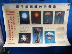 1971年三防挂图六原子武器爆炸的景象对开挂图
