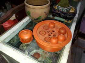 潮州茶具一套,茶盘直径20厘米