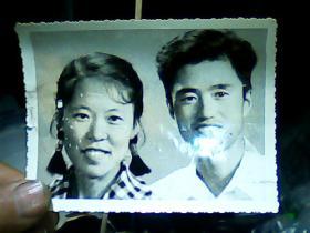 4寸黑白照片 夫妻照、
