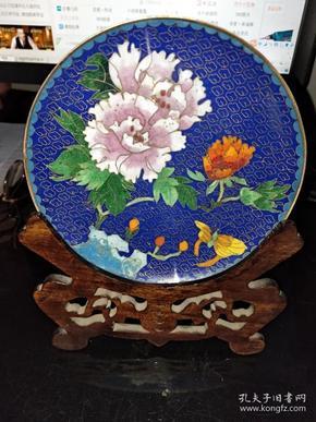 65号景泰蓝厚铜胎观赏盘16/16Cm。品相如图包老包真原汁原味很有收藏价值。