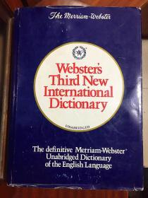 美国字典 韦氏第三版新国际英语大辞典 英语学习的最权威的词典Webster\s Third New International Dictionary
