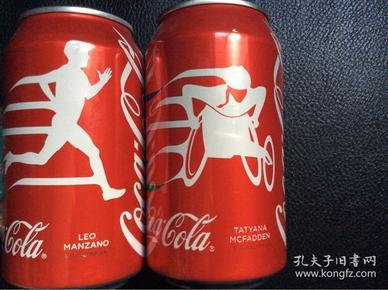 2016巴西奥运会残奥会可口可乐美国运动员纪念罐 一组两罐 非百事可乐康师傅冰红茶罐 非体育奥运会海报