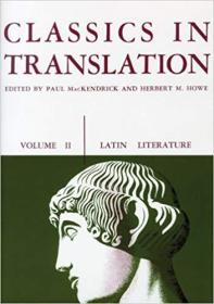 Classics in Translation, Volume II: Latin Literature翻译经典,第二卷:拉丁文学,1980 九五品,稀少