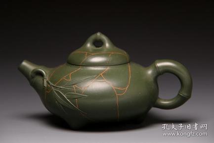 【正品保证】宜兴紫砂壶名家国工艺美术师全手工功夫茶壶冰纹竹节壶