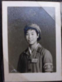 文革时期老照片,原照,女兵--收藏夹相册