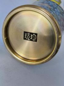景泰蓝纯铜笔筒   保存完整
