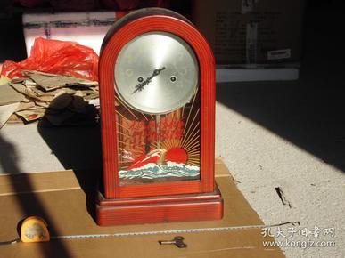 红色收藏 文革老座钟 大海航行靠舵手干革命靠毛泽东思想 文革座钟。