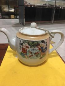 民国人物花茶壶
