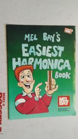 老乐谱 英文原版  MEL BAY' S  EASIEST HARMONICA  BOOK  梅尔湾的 最简单的 口琴书
