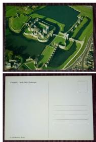 外国明信片,英国原版,格拉摩根郡卡菲利城堡,品如图