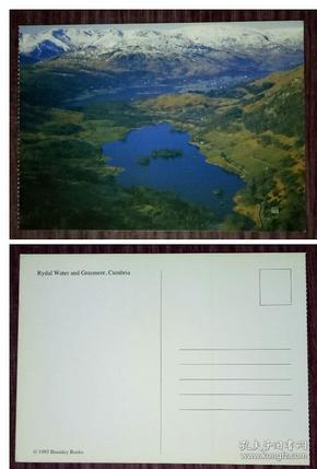 外国明信片,英国原版,坎布里亚郡瑞达尔水域,品如图
