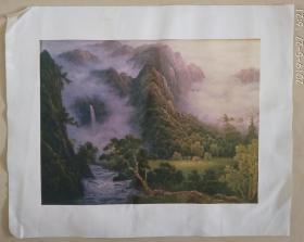 印刷品油画  风景画