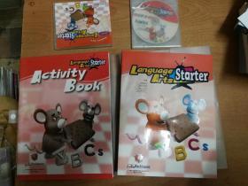 语言艺术= Language Arts. 基础册(包括学生课本,练习册,3张CD,一张DVD 带原装塑料盒)英语课学前教育教材