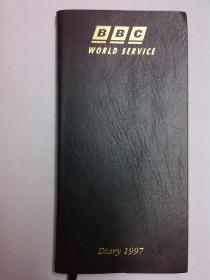 英国BBC 日志 日记薄 记事簿,带世界时区图与英国地铁图(1997香港回归)