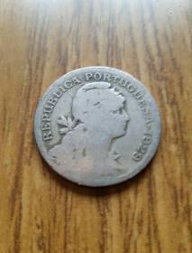 葡萄牙美少女像50分镍铜币(1929年)——老外币收藏
