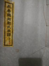 永春鹏翔郑氏族谱 卷四 宗支图【中华民国三十年十二月印】