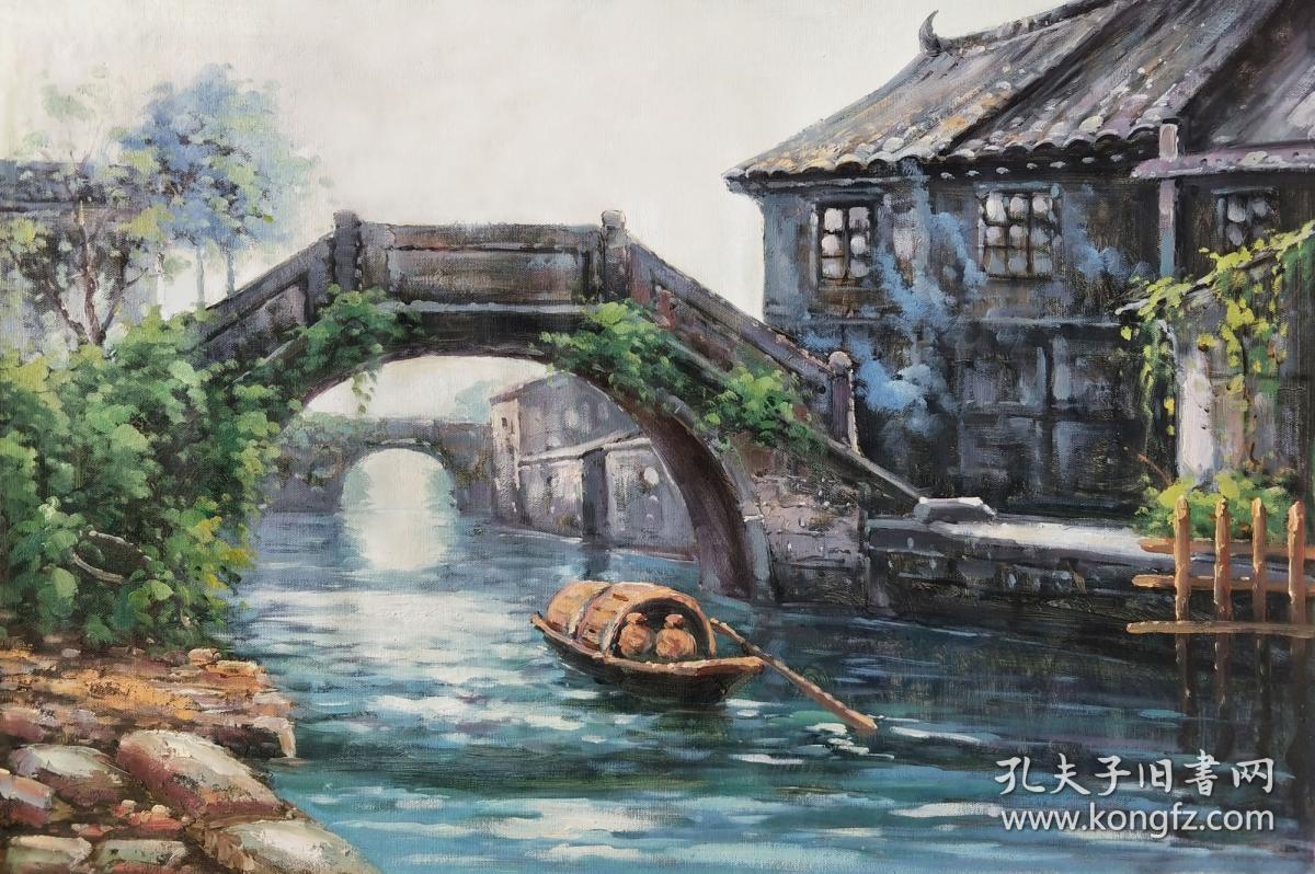【憬悟文化】职业画家高立业老师精品风景油画作品1,憬悟文化作品均