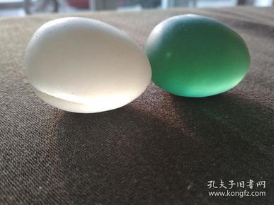 老彩色琉璃发财蛋两个