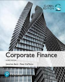 正版 Corporate Finance 4th Global edition Berk 课本现货9781292160160