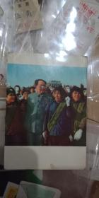 毛主席与人民在一起摄影画片