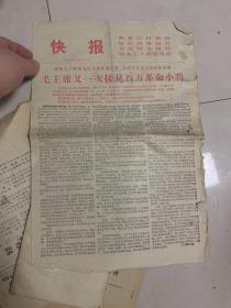 黑龙江日报社 哈尔滨晚报社 等 快报 毛主席又一次接见百万革命小将