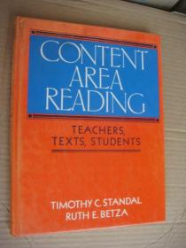 Content Area Reading: Teachers,texts,students