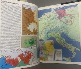 简明泰晤士书脊面包地图集世界精装布面烫银有机玻璃历史展架图片